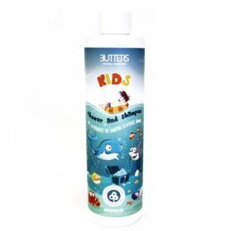 Otroški gel za prhanje in šampon Butters moder