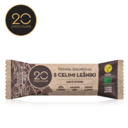 BIO Lešnikova gianduja 20 chocolate
