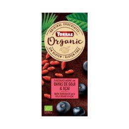 BIO temna čokolada z goji jagodami 100g Torras