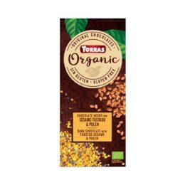 BIO Čokolada s sezamom in cvetnim prahom 100 Torras