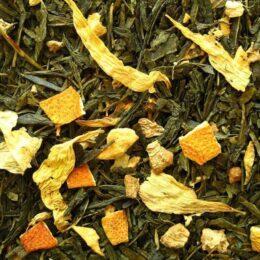 Zeleni čaj z aromo ingverja in limone 50g CHAI