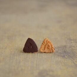 Mali uhani Domačica Trikotnik Brlogarka
