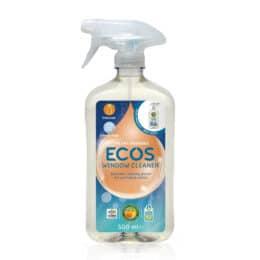 Naravno čistilo za okna in steklene površine Ecos 500ml