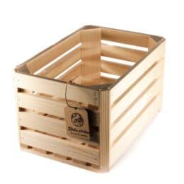 Lesena ročno izdelana gajbica mala