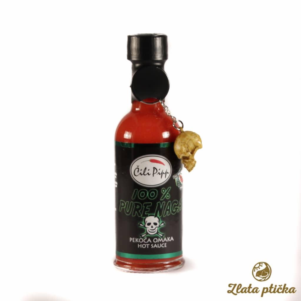 Čili omaka 100% Pure Naga Čili Pipp 100ml