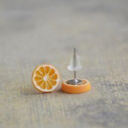 Mali uhani pomaranče Brlogarka