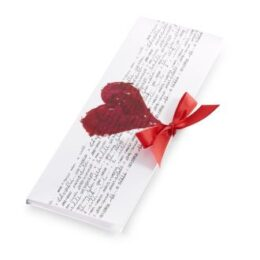 Čokoladno pismo srček mlečno 100g