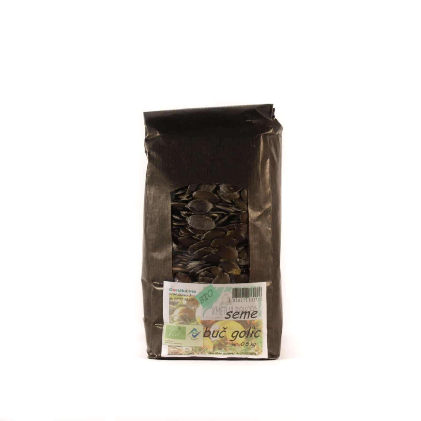 Bučno seme ekološke pridelave 0,5kg