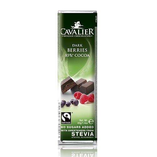 Temna čokolada z gozdnimi sadeži Cavalier 85g
