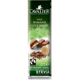 Mlečna čokolada brez sladkorja Banana - Cavalier 40g