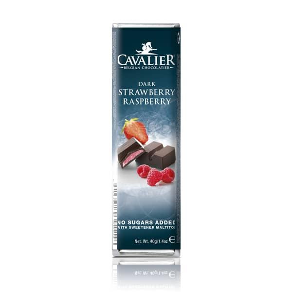 Temna čokolada brez sladkorja jagoda-malina Cavalier