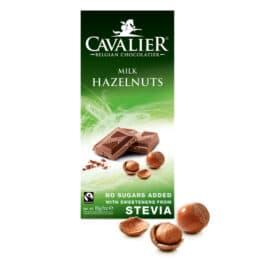 Mlečna čokolada brez sladkorja - lešnik Cavalier 85g