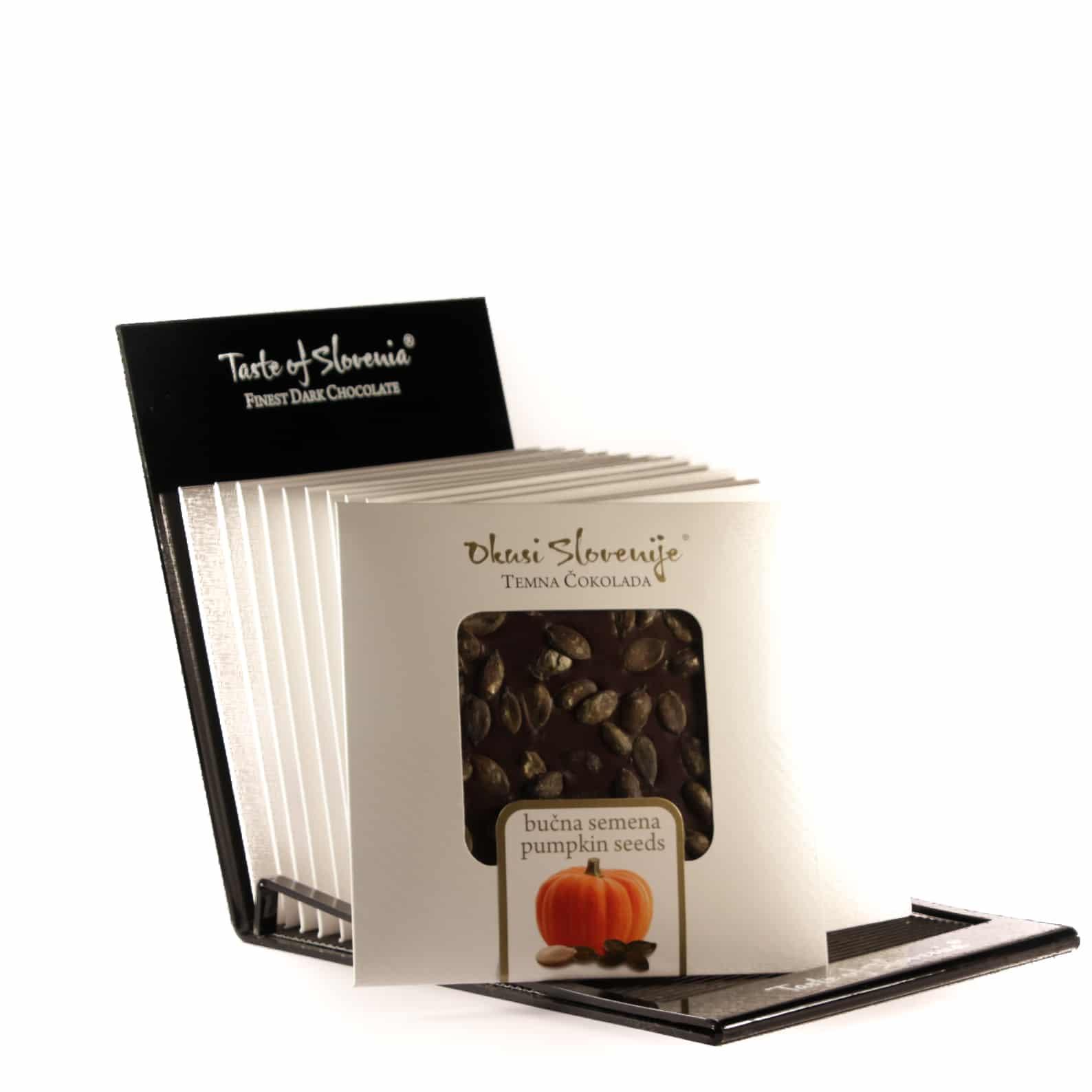 Temna čokolada z bučnimi semeni 90g