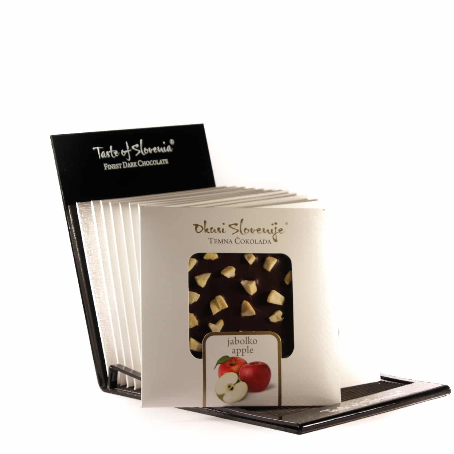 Temna čokolada z jabolkom 90g