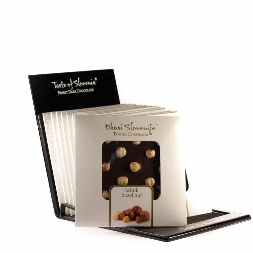 Temna čokolada z lešniki 90g