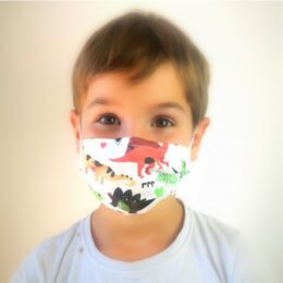 Otroška pralna maska Dino