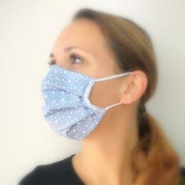 Pralna maska modra s pikami