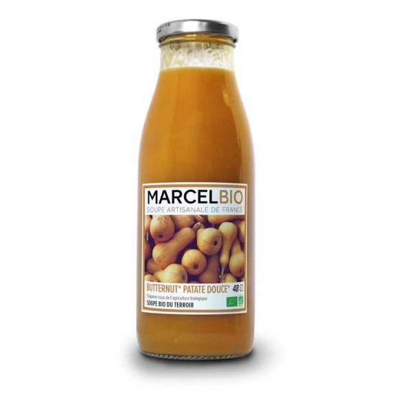 Bio juha Buča butternut in sladek krompir 480ml Marcel Bio