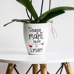 "Cvetlični lonec ""Mami rada te imam"""