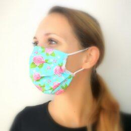 Pralna maska neon modra