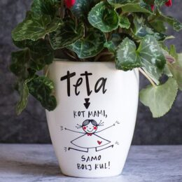 Cvetlični lonec za Teto
