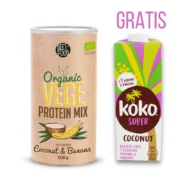 Bio veganske beljakovine KOKOS BANANA 500g