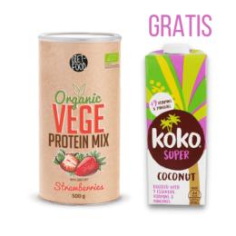 Bio veganske beljakovine JAGODA 500g