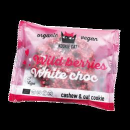 BIO piškot gozdni sadeži bela čokolada 50g Kookie Cat